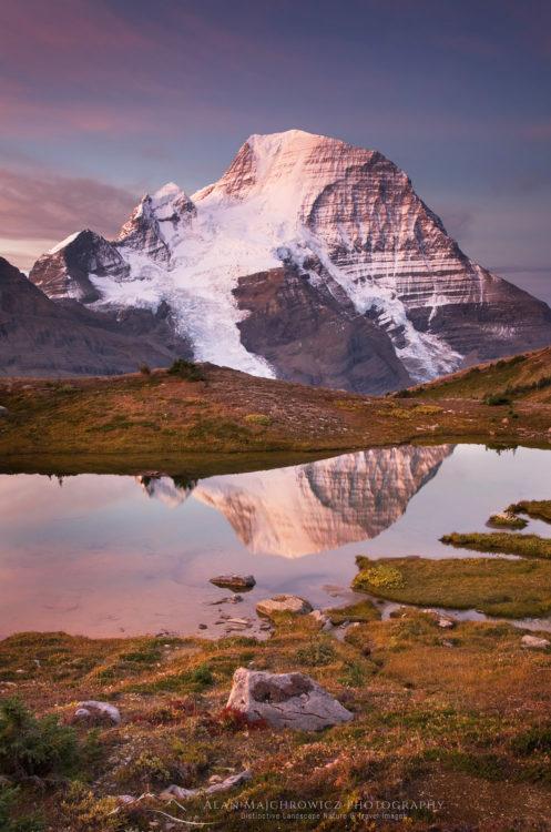 Mount Robson sunrise Canadian Rockies British Columbia