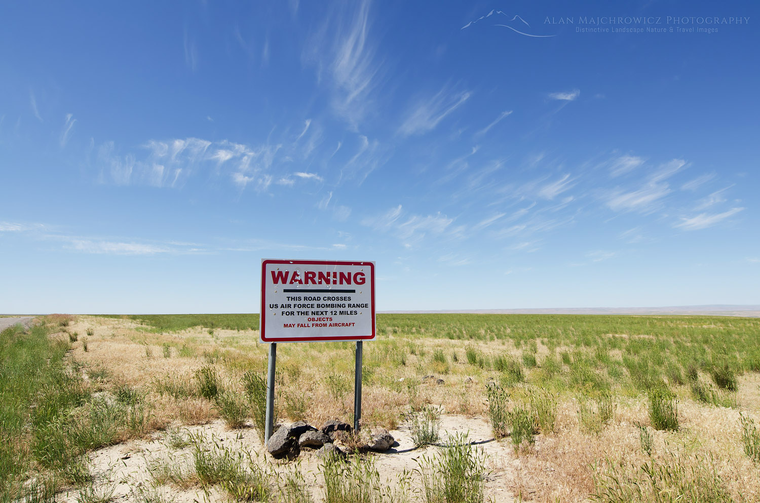 Air Force bombing range  warning sign SW Idaho