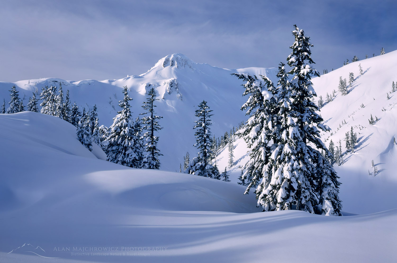 Heather Meadows Recreation Area in winter North Cascades