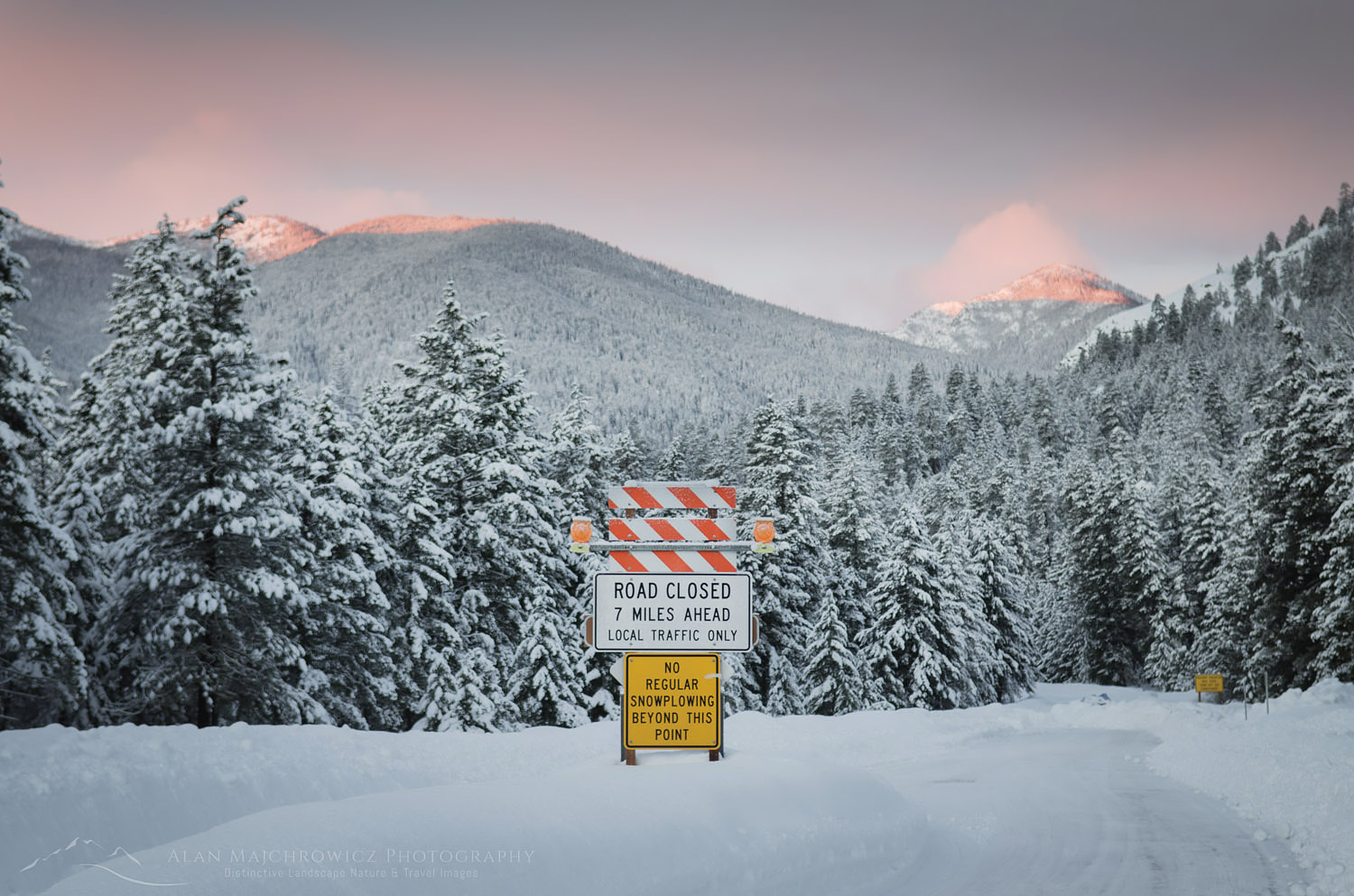 North Cascades Highway closure Methow Valley Winter