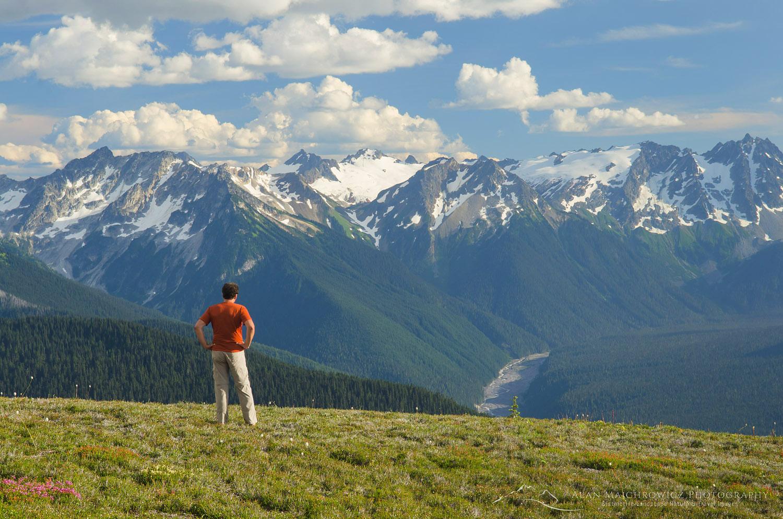 Hiker Glacier Peak Wilderness North cascades