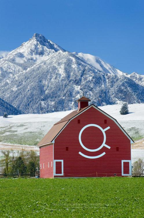 Red barn Wallowa Valley Oregon