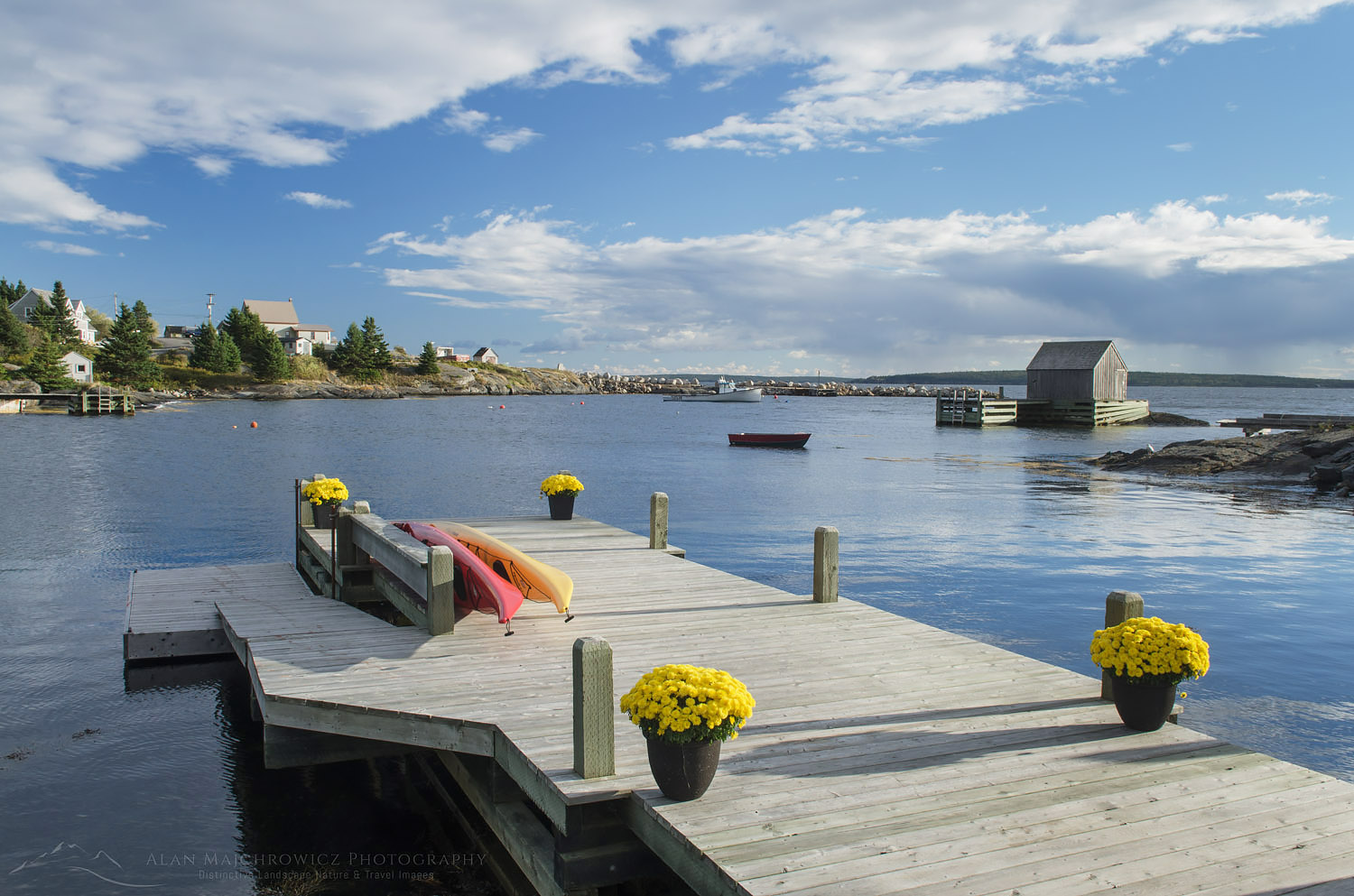 Boat dock Blue Rocks Nova Scotia Bluenose Coast