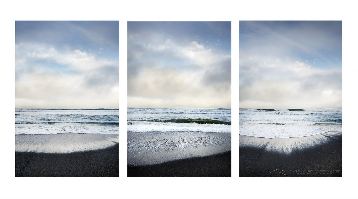 Gold Bluffs Beach Triptych, California