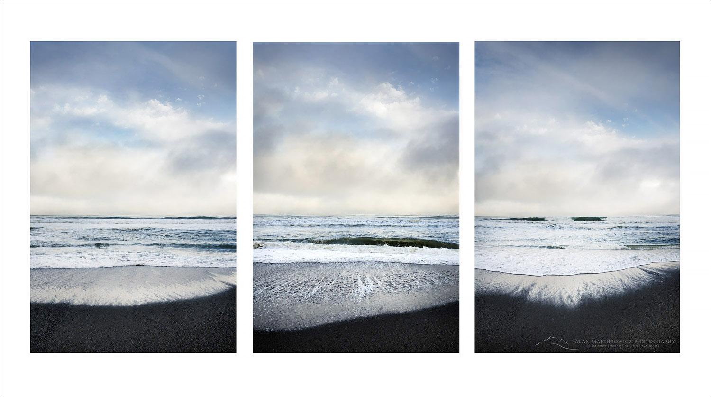 Gold Bluffs Beach Triptych, California
