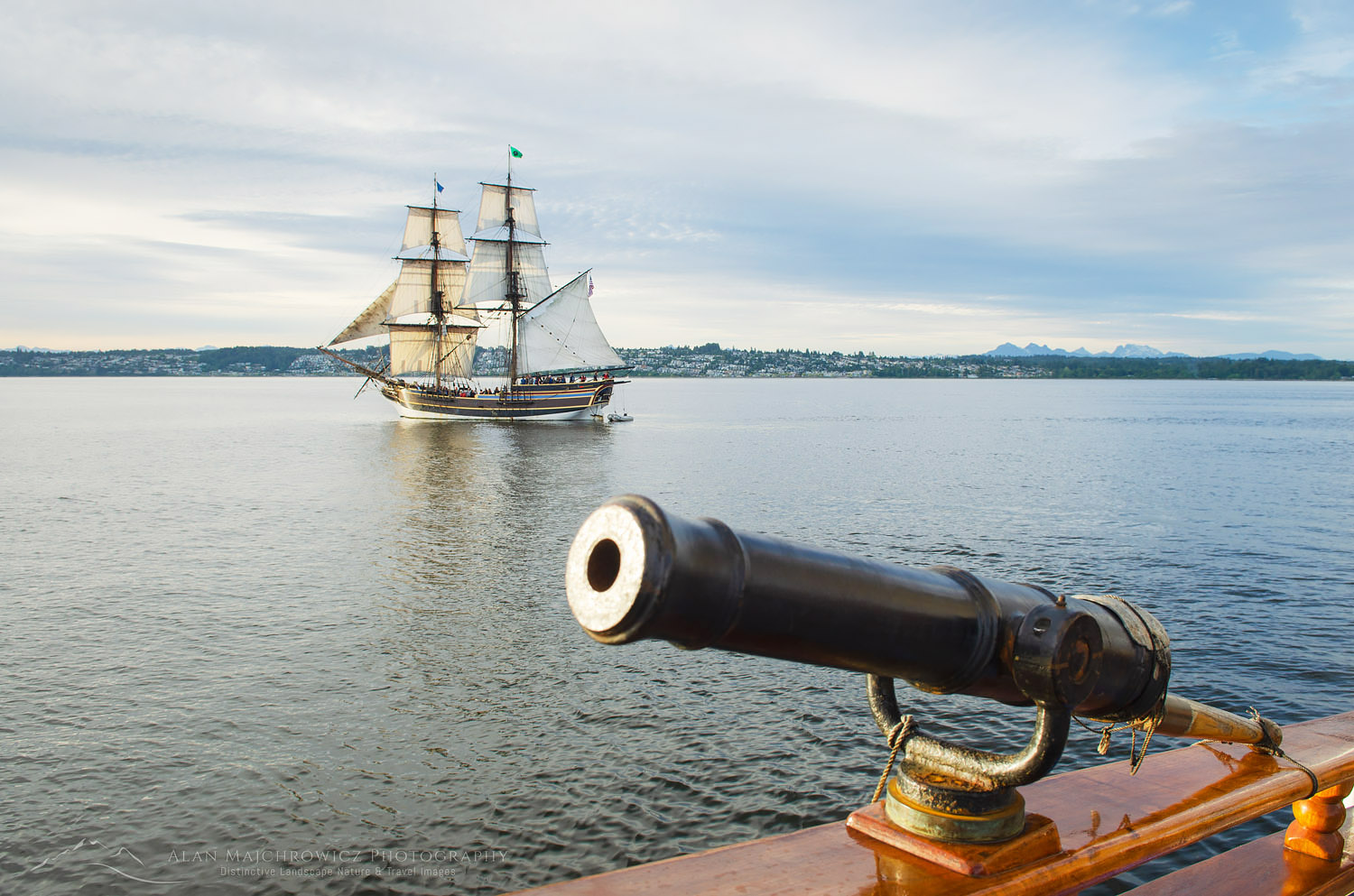 Lady Washington at sail Semiahmoo Bay, Washington.