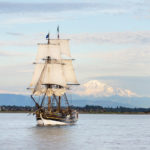 Lady Washington and Mount Baker, Semiahmoo Bay, Washington.