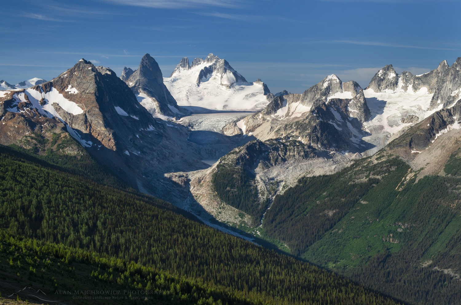 Howser Towers Vowell Glacier, Bugaboos