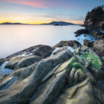 Wildcat Cove Samish Bay Sunset Larrabee State Park