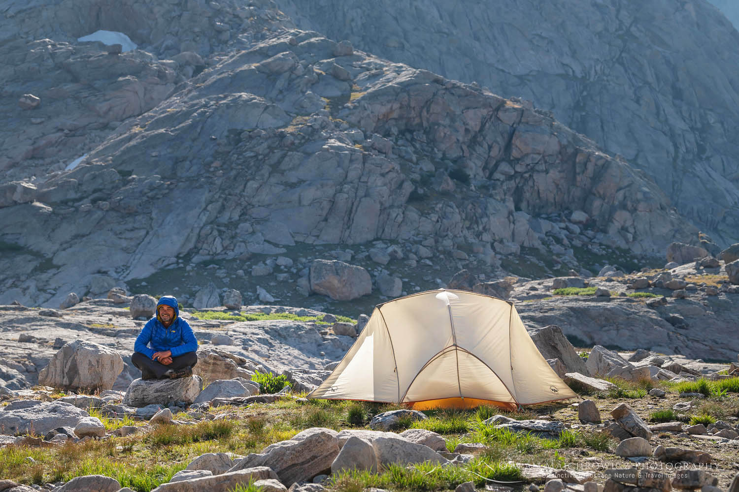 Backpacker in Indian Basin Wind River Range Wyoming