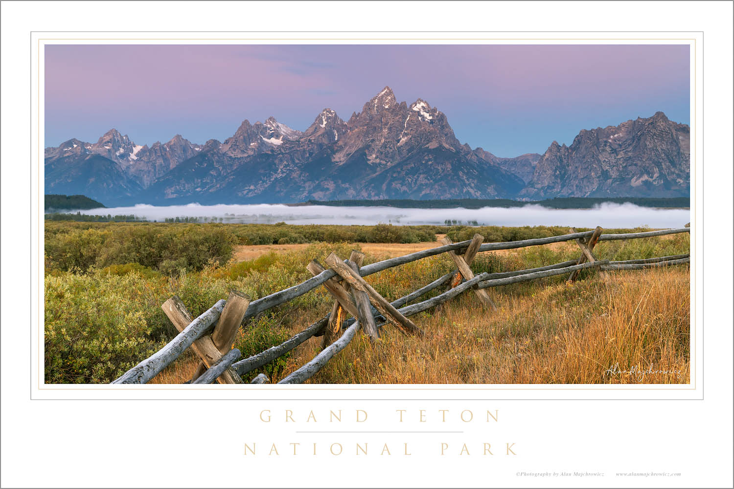 Teton Range at Cunningham Ranch, Grand Teton National Park Wyoming