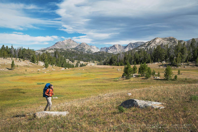 Backpacker Wind River Range, Wyoming