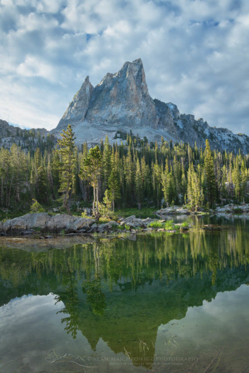 El Capitan and Alice Lake Sawtooth Mountains Idaho