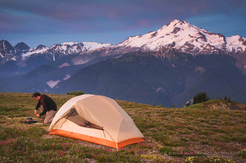 Backcountry camp Glacier Peak Wilderness North Cascades