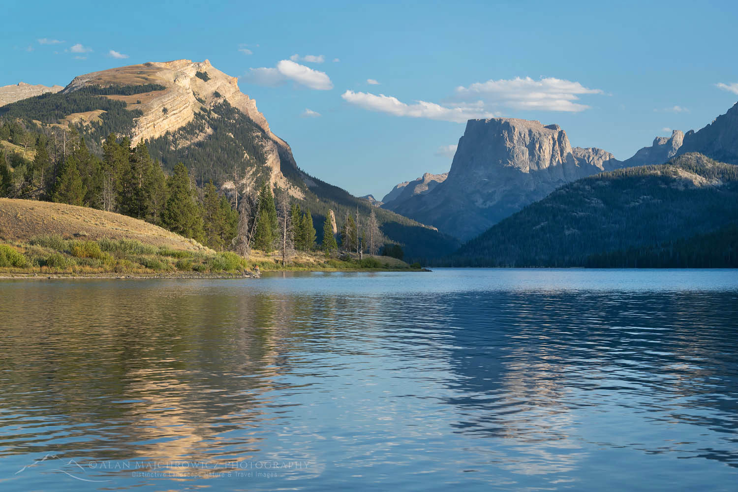 Square Top Mountain seen from Green River Lake Wind River Range Wyoming