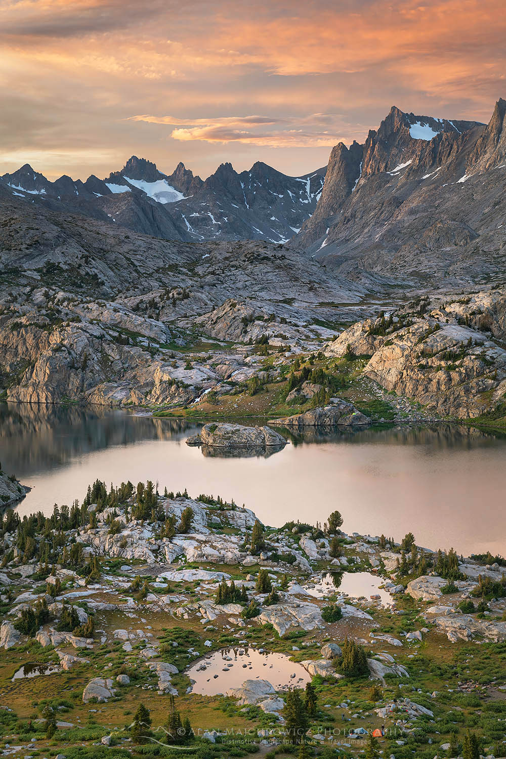 Island Lake Bridger Wilderness, Wind River Range Wyoming