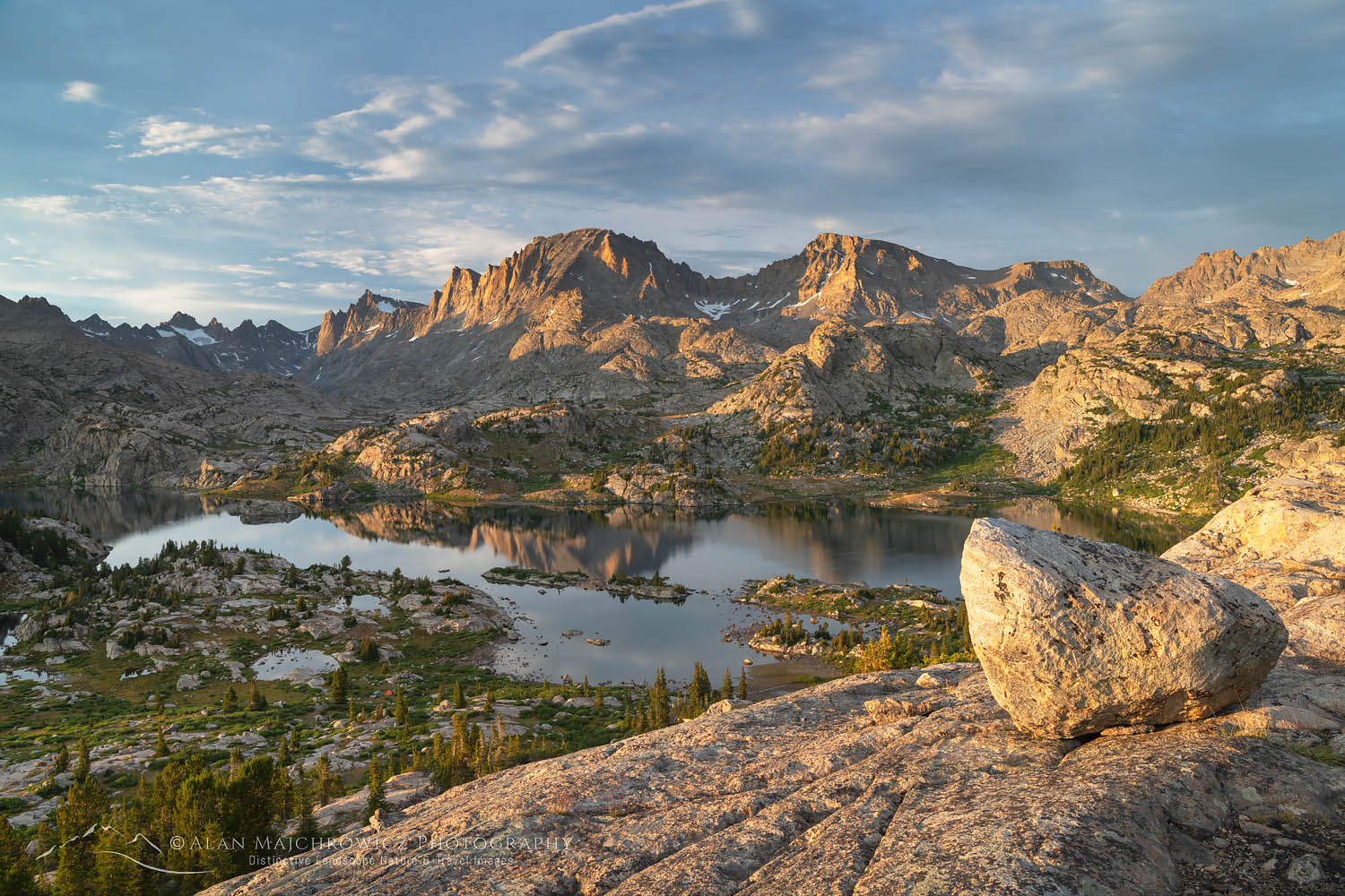 Island Lake and Fremont Peak, Bridger Wilderness, Wind River Range Wyoming