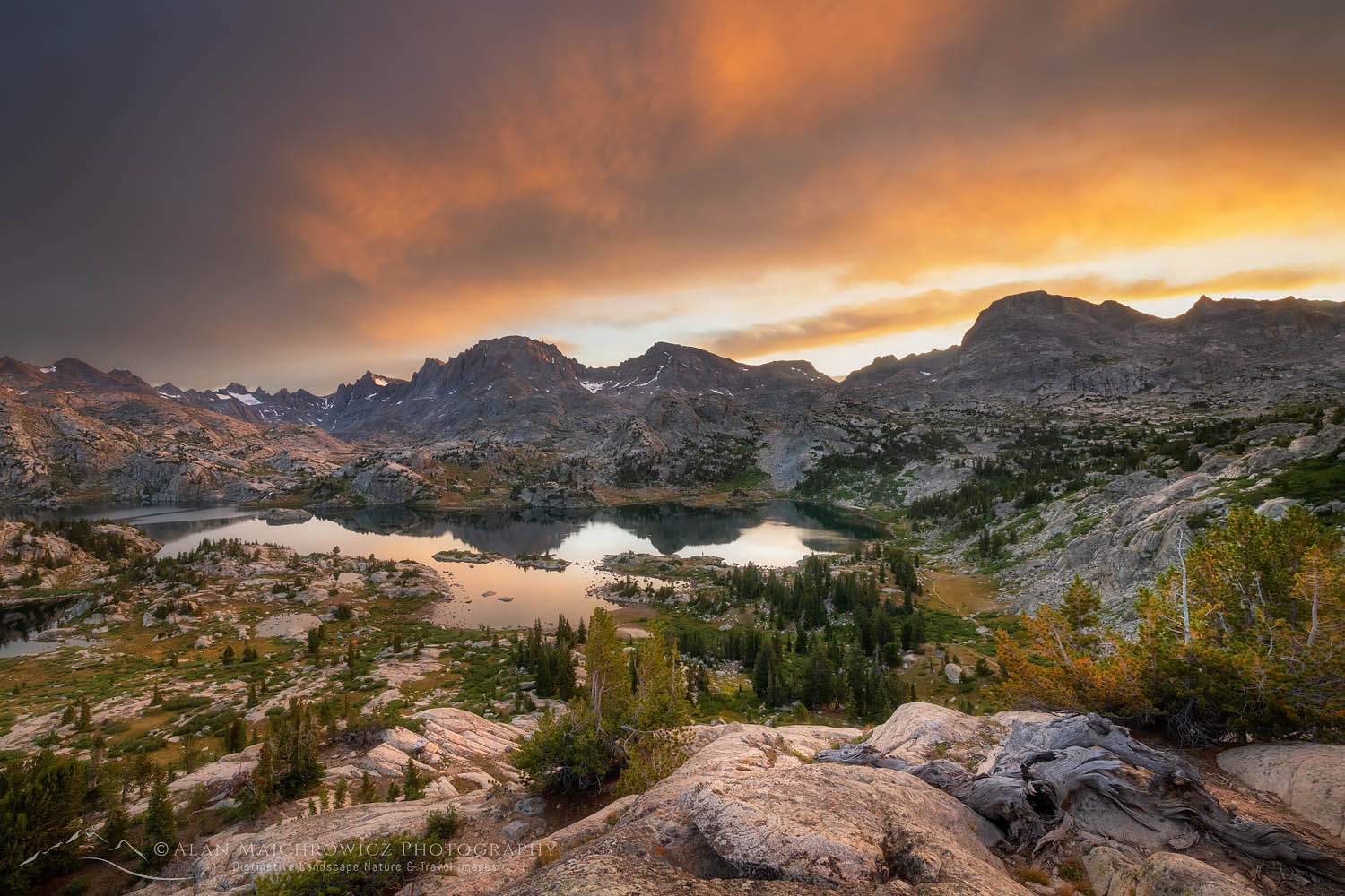Island Lake Wind River Range Wyoming