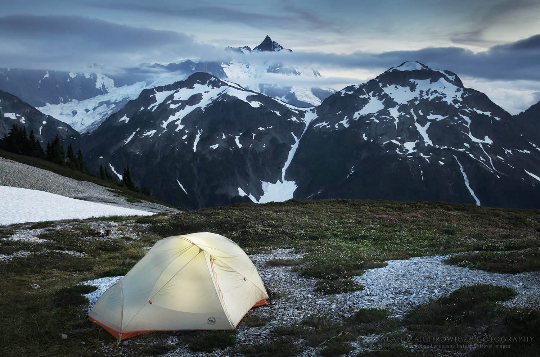 Backcountry camp North Cascades Washington