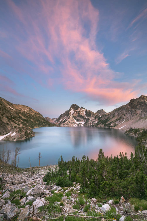 Sawtooth Lake and Mount Regan Idaho