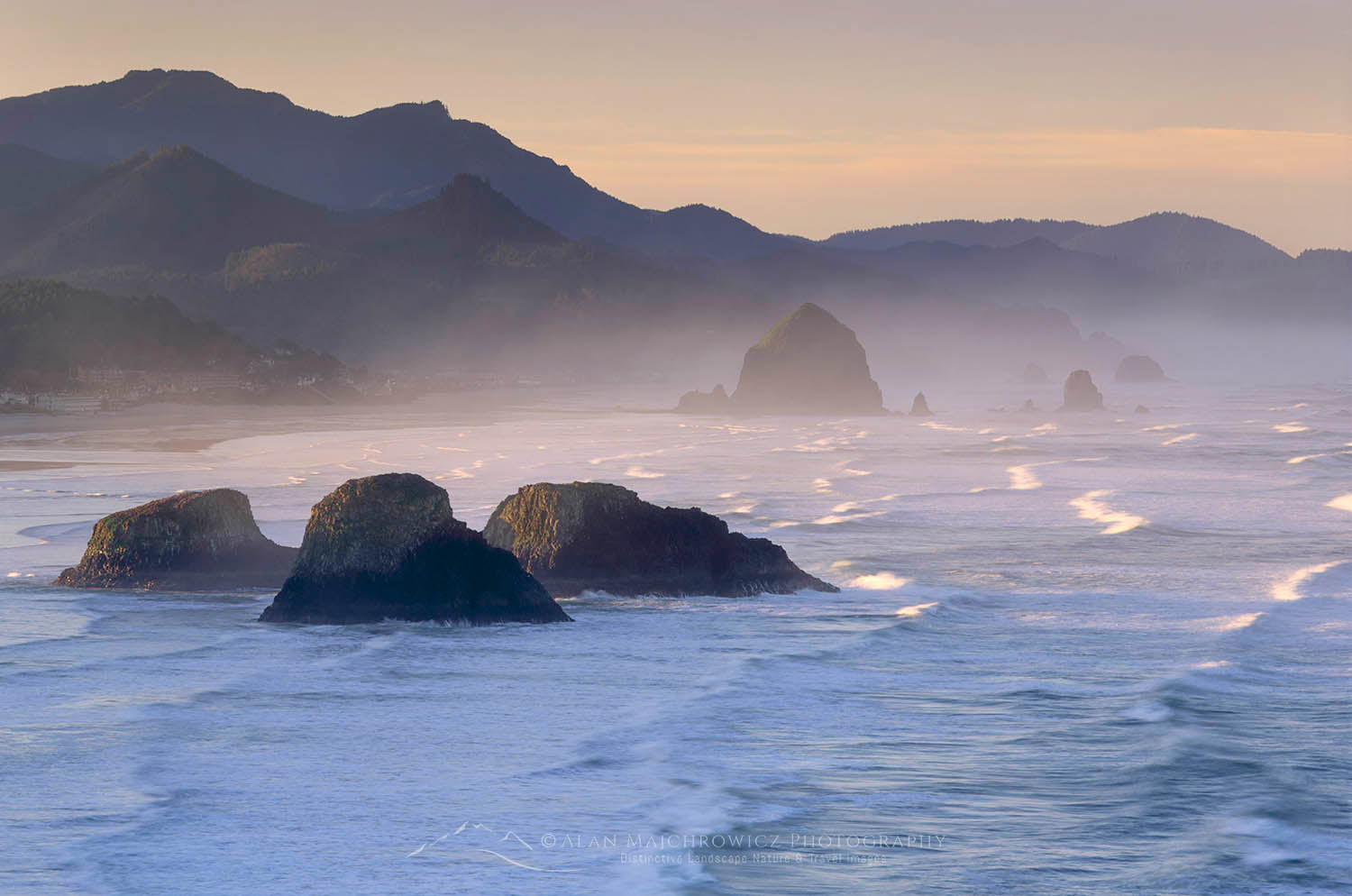 Cannon Beach from Ecola State Park Oregon