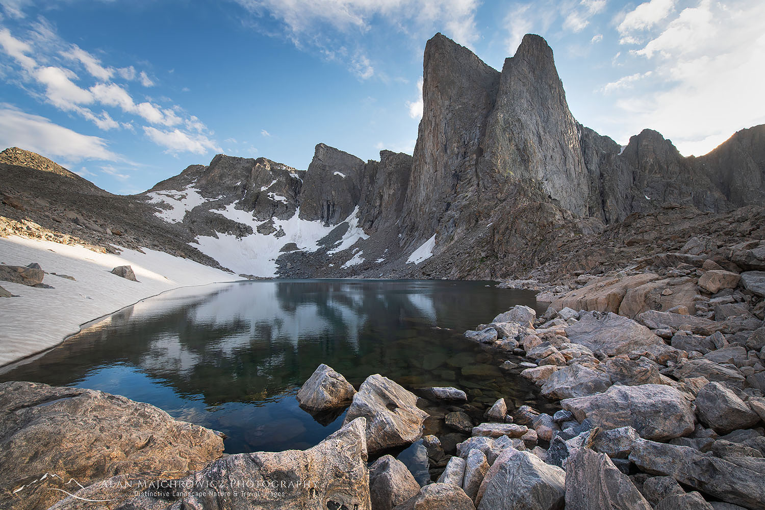 Pronghorn Peak Lake Donna, Bridger Wilderness, Wind River Range Wyoming