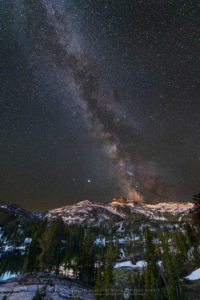 Milky Way over Eagle Cap Wilderness Oregon