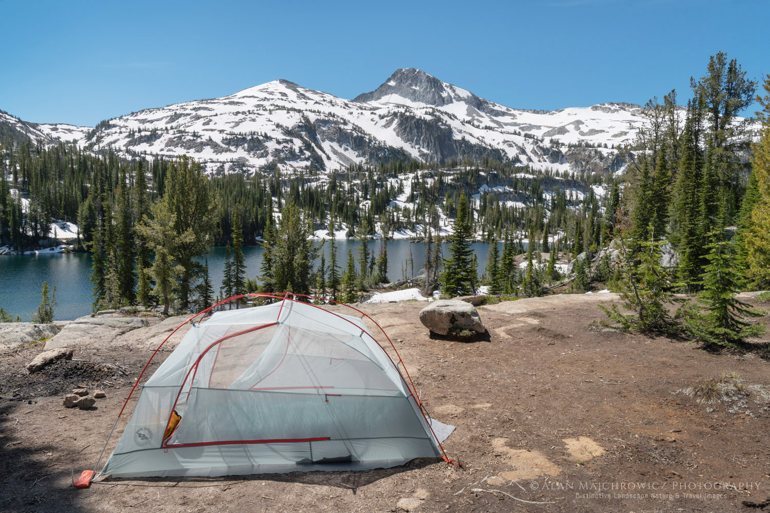 Backcountry camp Eagle Cap Wilderness Oregon
