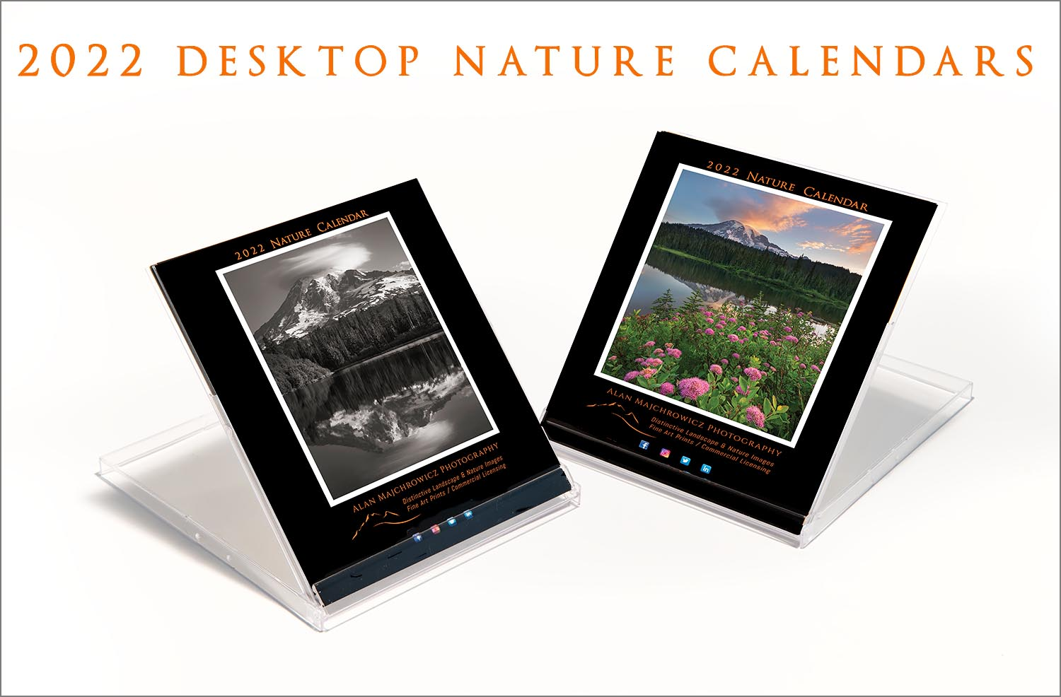 2022 Desktop Nature Calendar. Presented in a CD jewel case they're perfect for offices, kitchen counters, and nightstands.