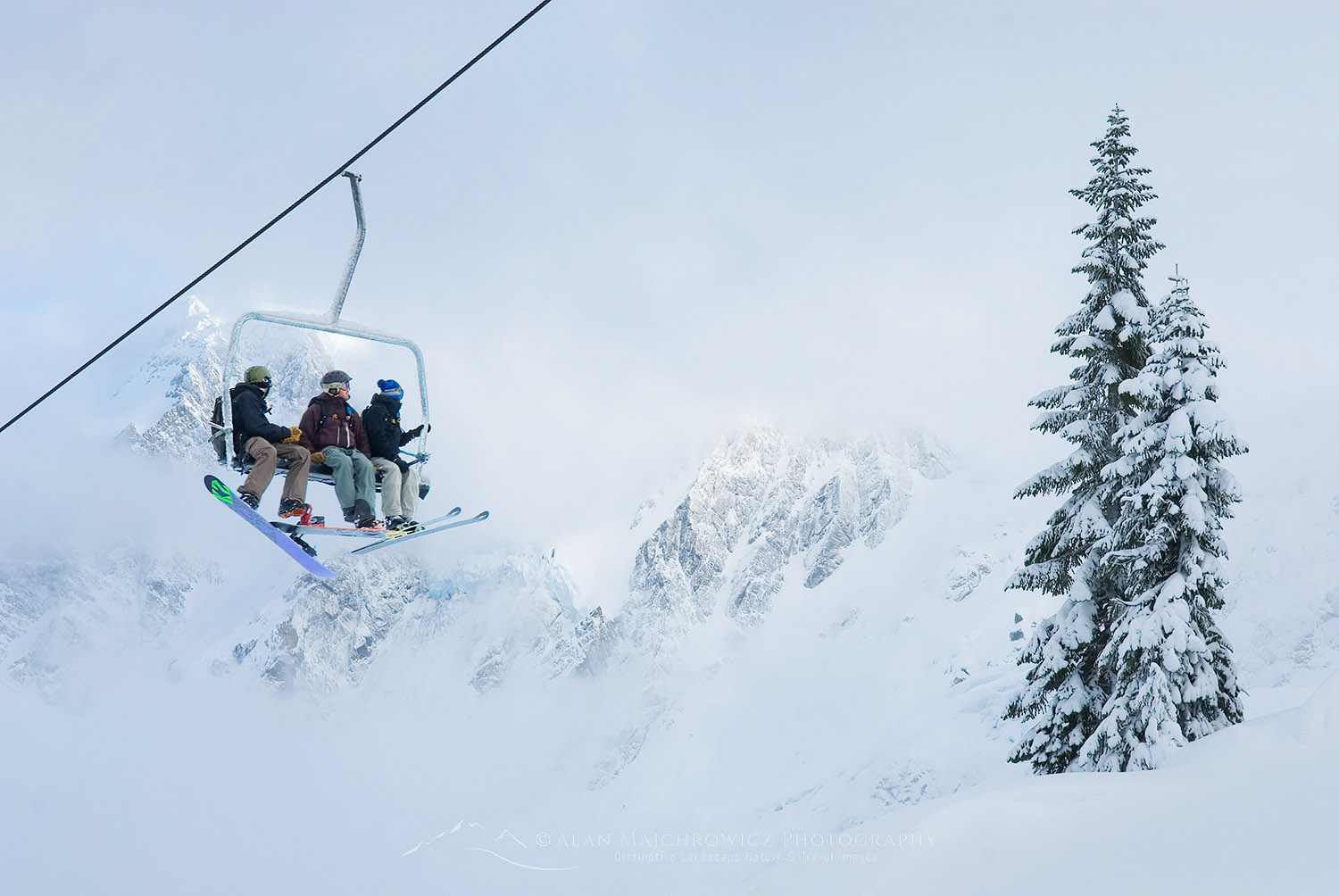 Ski lift Mount Baker Ski Area Winter Photography Trip Planning