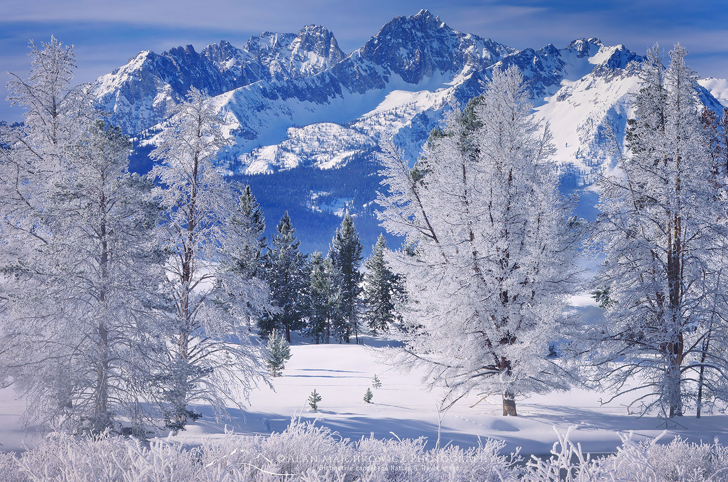 Sawtooth Mountains in winter, Idaho Winter Photography Essential Tips