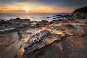 Shore Acres State Park sunset, Oregon