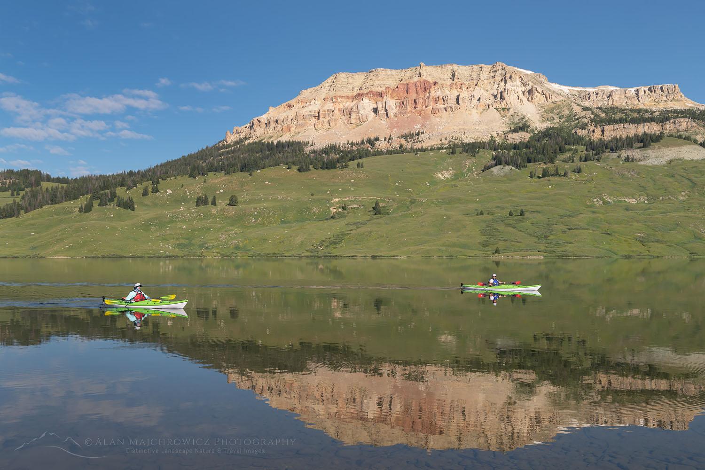 Kayaking on Beartooth Lake Wyoming