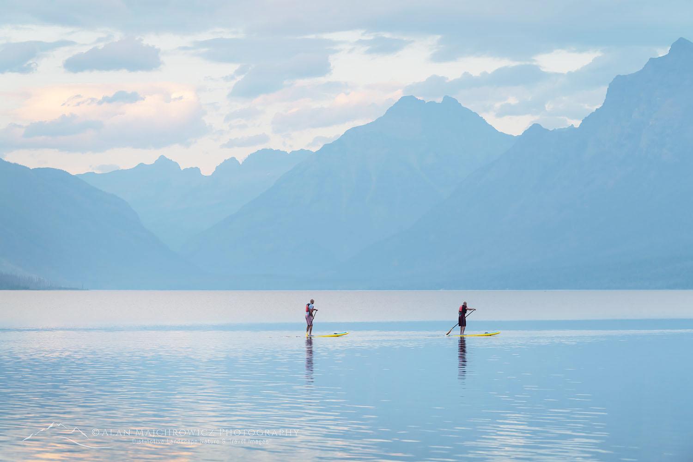 Lake McDonald paddle boarding