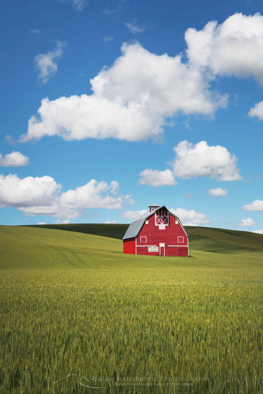 Red Barn Palouse Region Washington