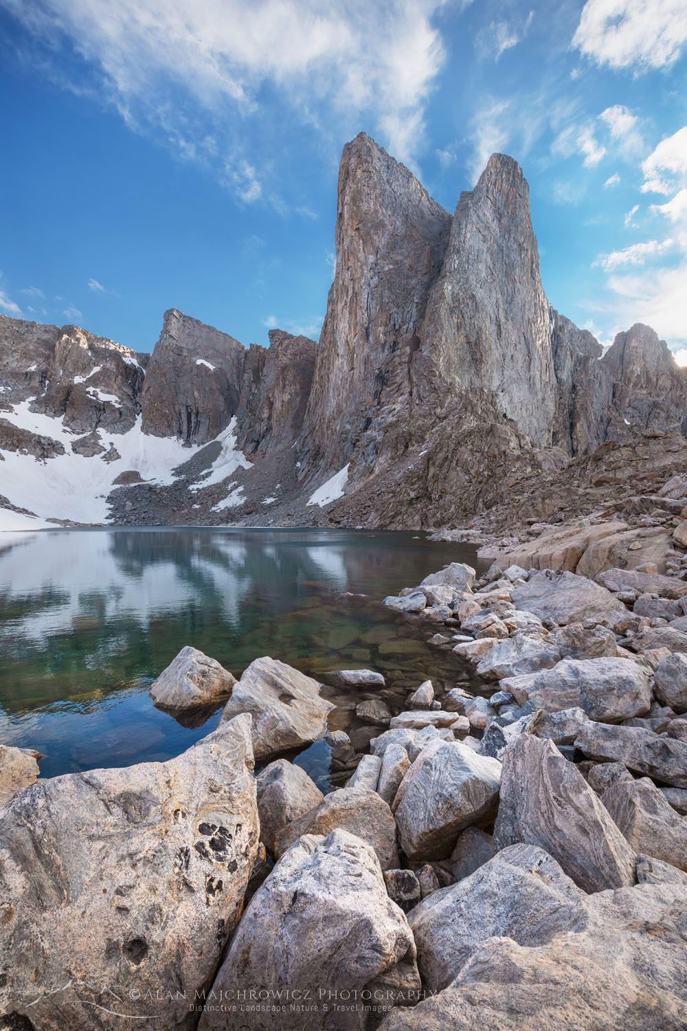 Pronghorn Peak and Lake Donna. Bridger Wilderness, Wind River Range Wyoming