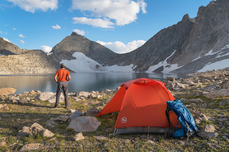 Noel Lake backcountry camp Wind River Range