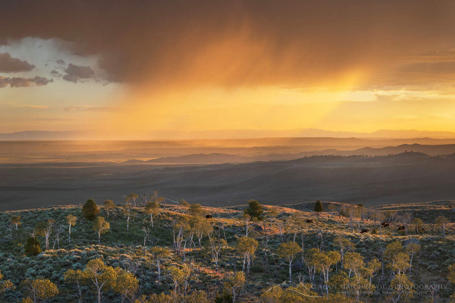 Sunset storm Wyoming