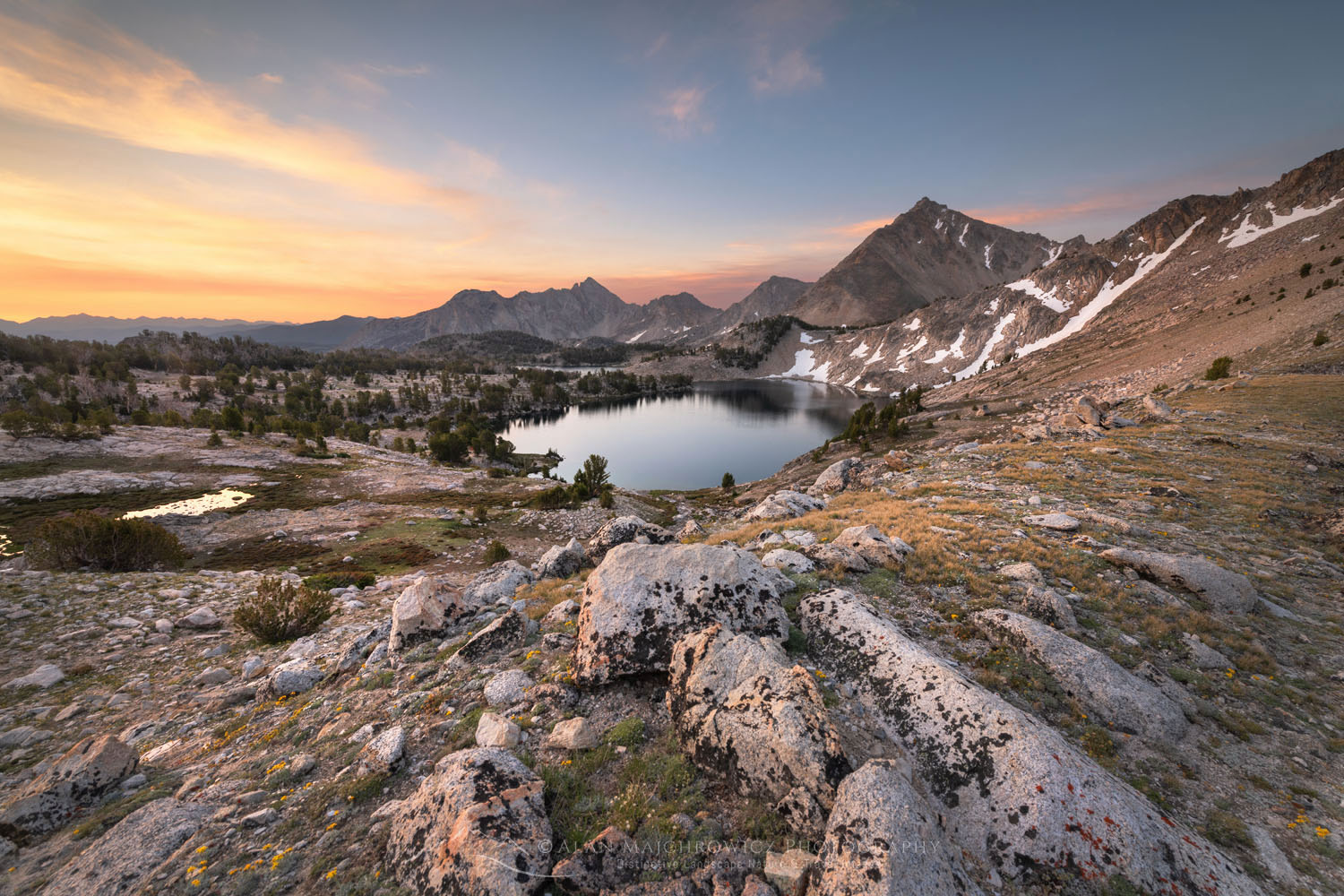 Sapphire Lake White Clouds Wilderness Idaho