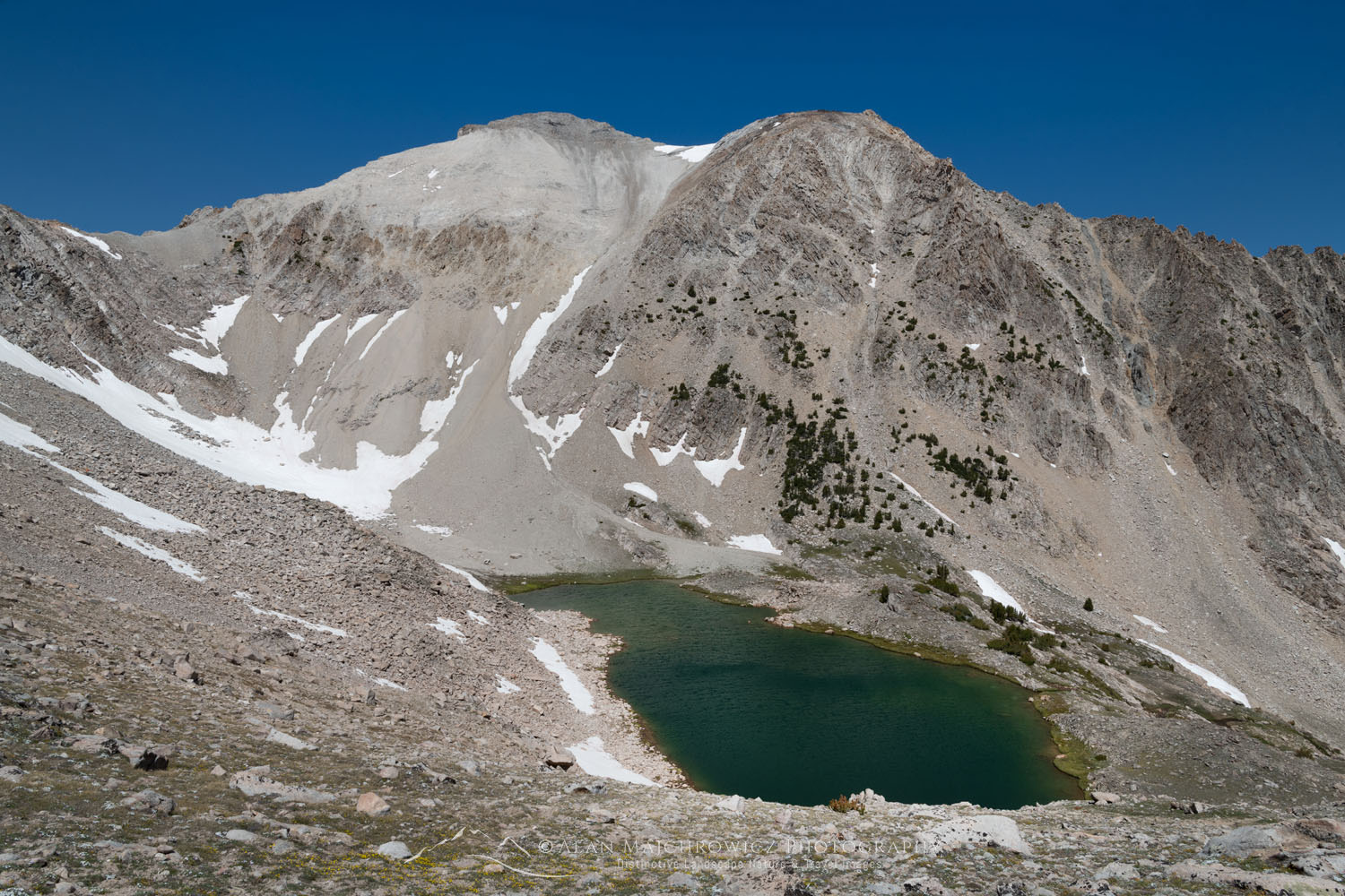 O'Calkens Peak Slide Lake, Cecil D. Andrus-White Clouds Wilderness Idaho