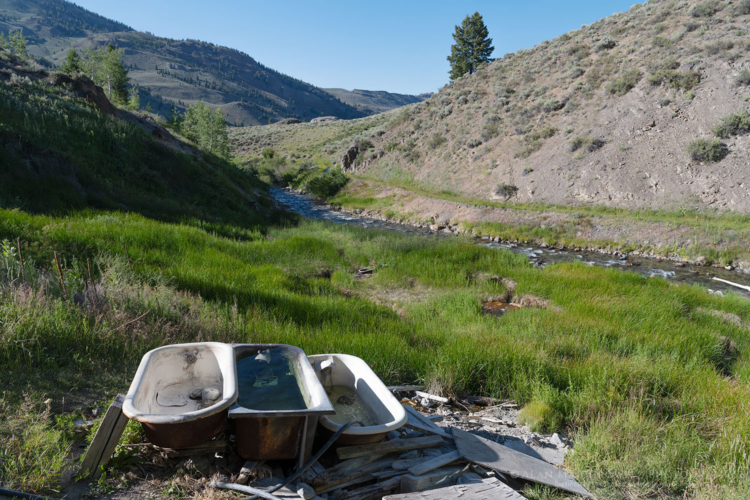 West Pass hot springs, East Fork Salmon River Idaho