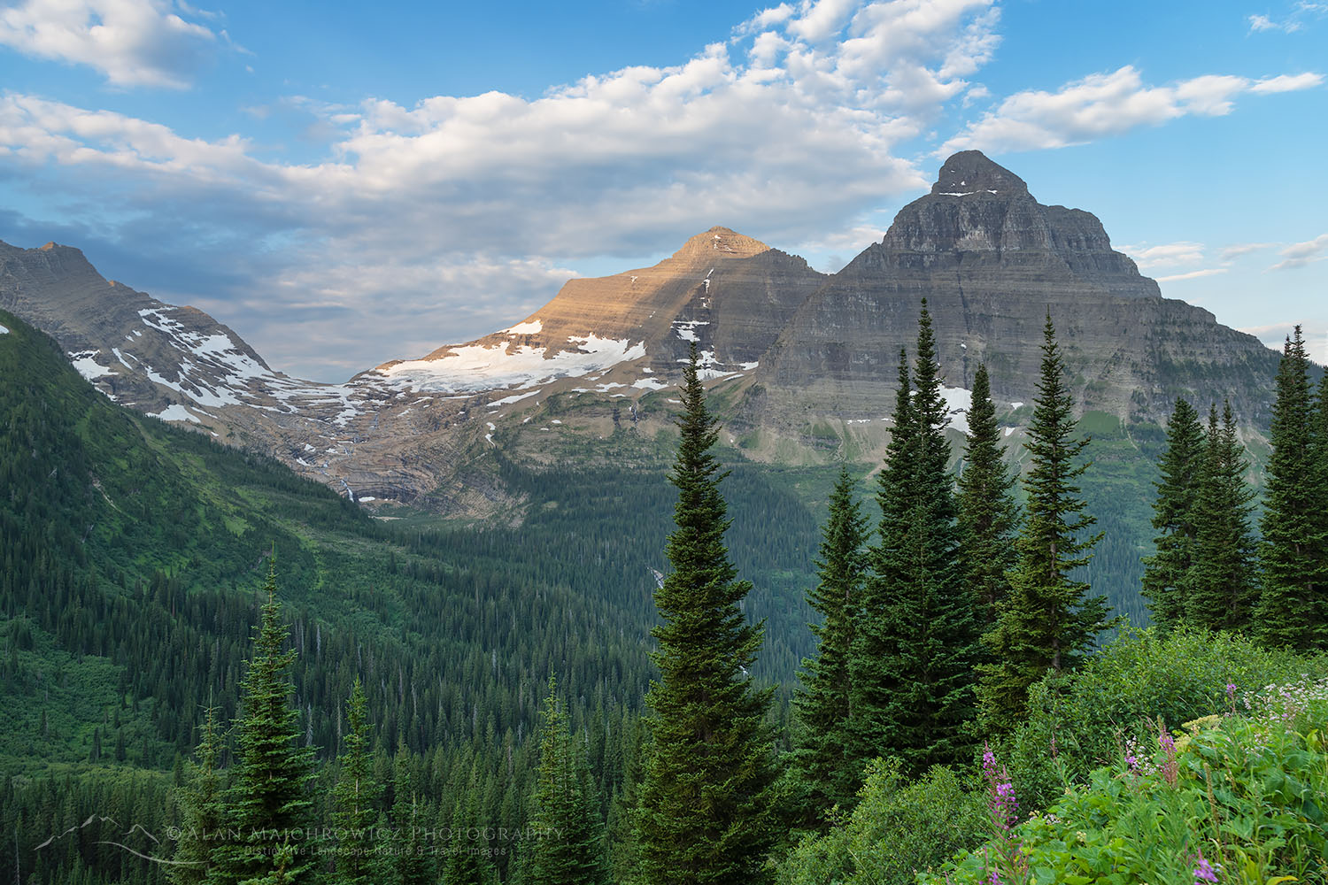 Kintla and Kinnerly Peaks Glacier National Park Montana