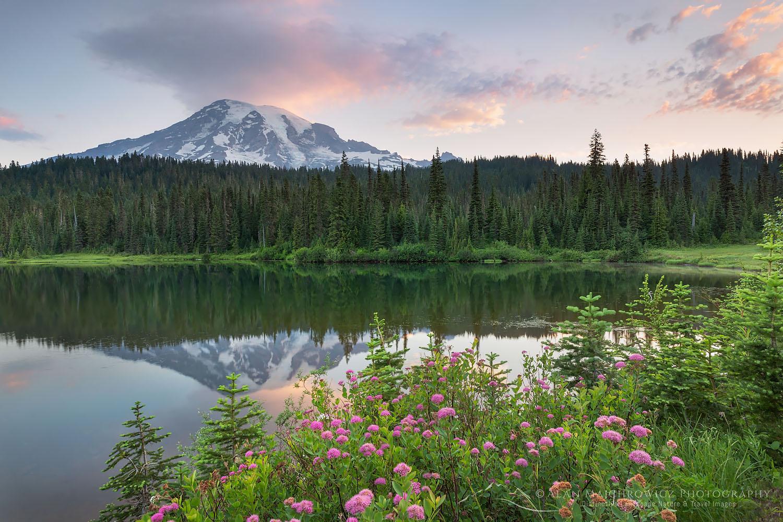 Mount Rainier sunrise from Reflection Lake