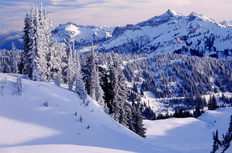 Tatoosh Range in winter, Mount Rainier National Park
